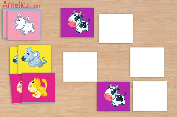 игра мемори для детей, дидактические игры для малышей, мемори своими руками