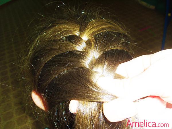 прическа колосок фото, коса колосок