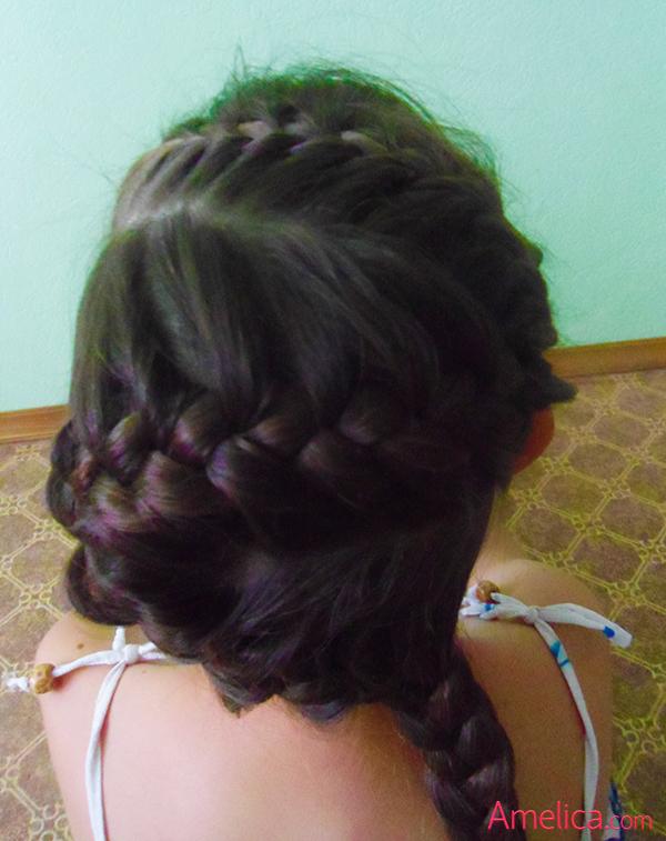 Фото красивых причесок из кос на длинные волосы 71