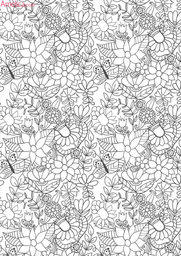 раскраски взрослые волшебный сад зачарованный лесamelica