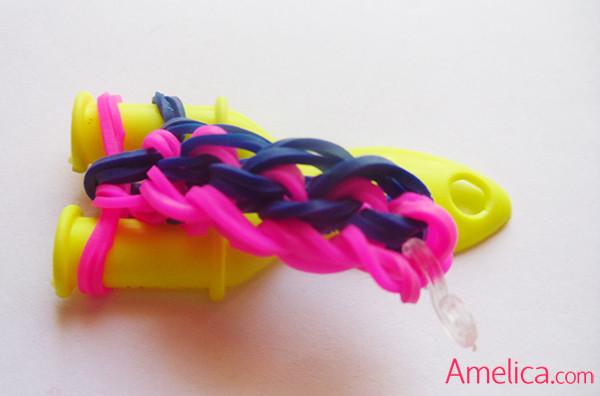 браслет тротуар из резиночек, плетение из резинок