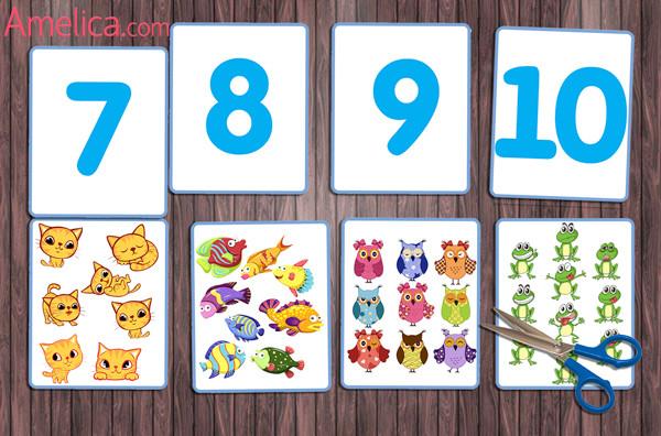 учимся считать, игра цифры для детей, счет от 0 до 10