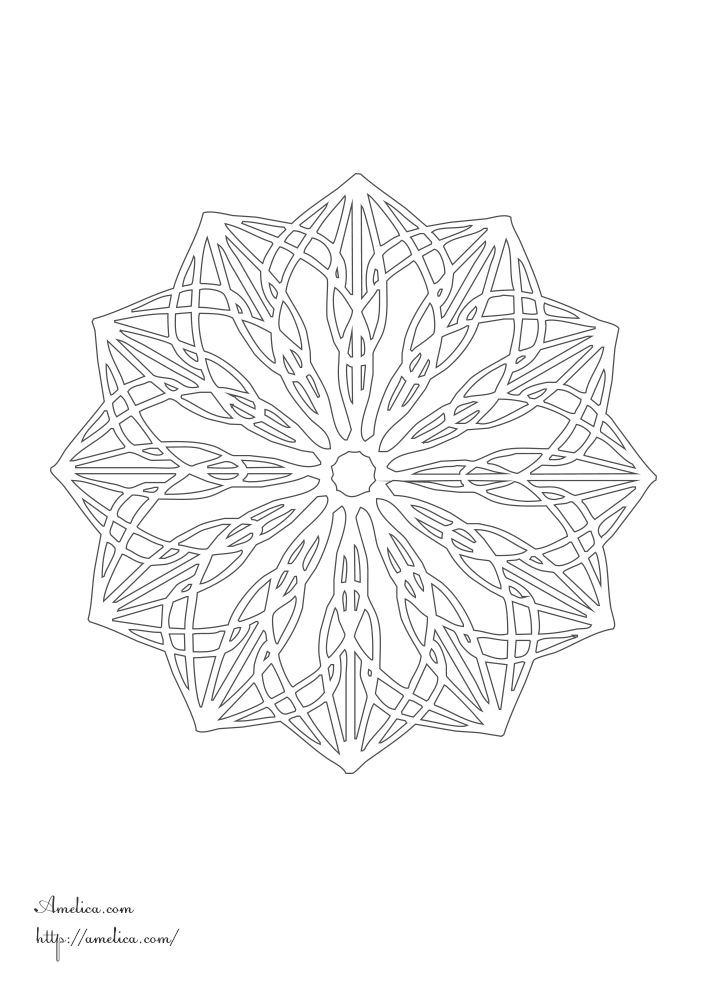 мандала раскраска распечатать скачать Mandalas Coloring Amelica