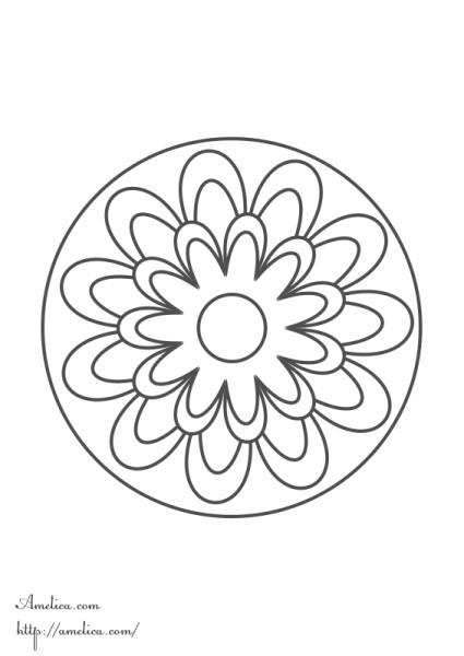 Мандала раскраска, мандала для детей, мандала цветок