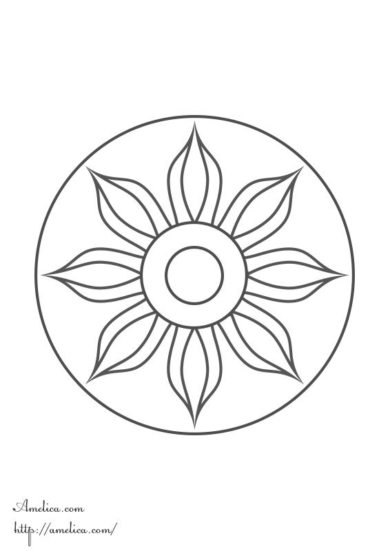 мандала для детей, мандала детям, мандала цветок/ mandalas, coloring, meditation