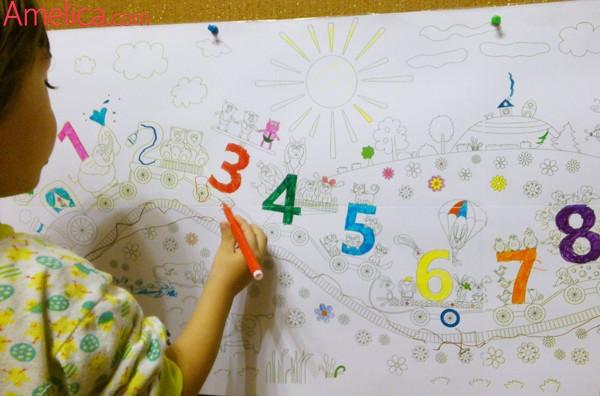 большая раскраска, большие раскраски, обои - раскраска, раскраска - плакат