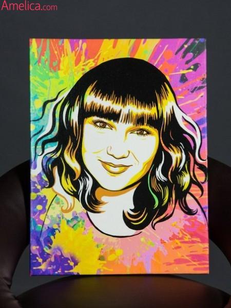 портрет в стиле поп арт, заказать портрет поп арт, поп арт портрет на заказ,