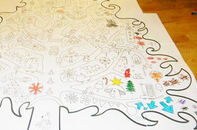 елка картинка раскраска, обои раскраски, новогодние раскраски