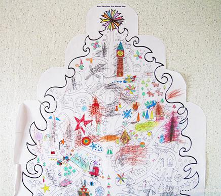 раскраска елка новогодняя, елка раскраска распечатать, елка раскраска