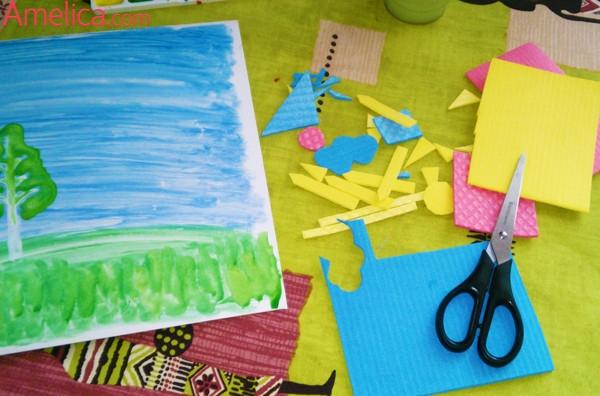 аппликации для детского сада, аппликация своими руками, аппликация домик