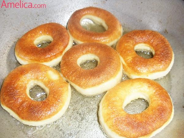 пончики на кефире рецепт, пончики фото