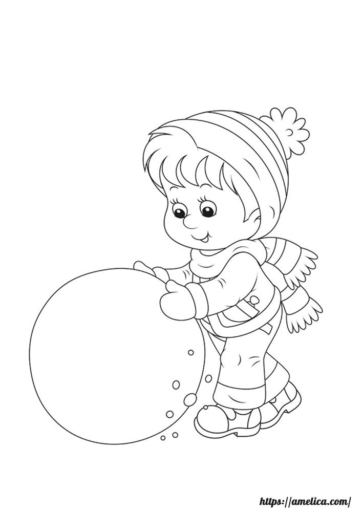 Зимние раскраски, раскраски зима, раскраски новогодние