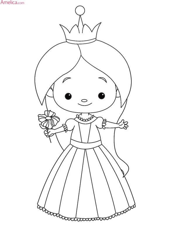 красивые раскраски принцессы распечатать для девочек