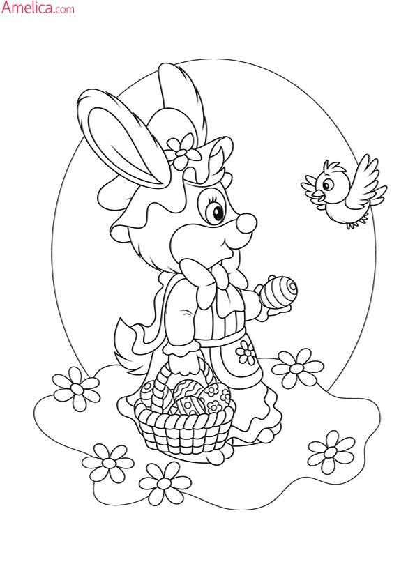 раскраски пасха распечатать, раскраски к пасхе для детей