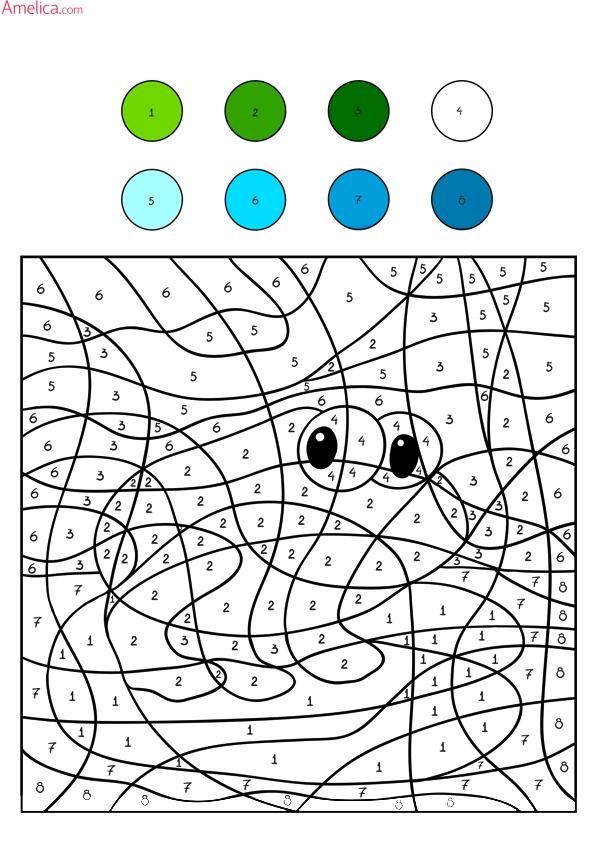 раскраски по номерам распечатать, рисуем по номерам