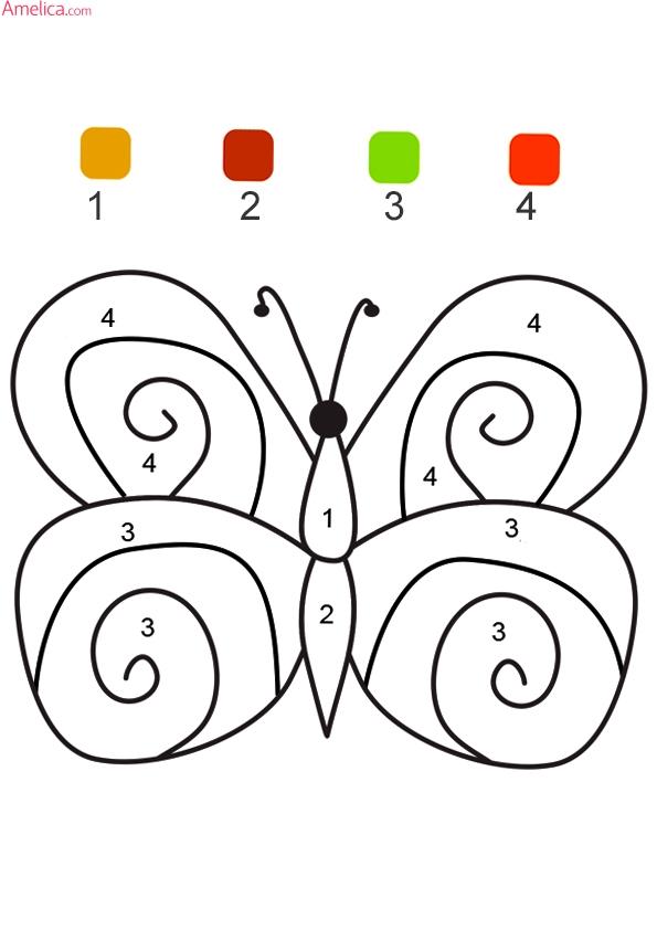 раскраски для детей, раскраски по цифрам