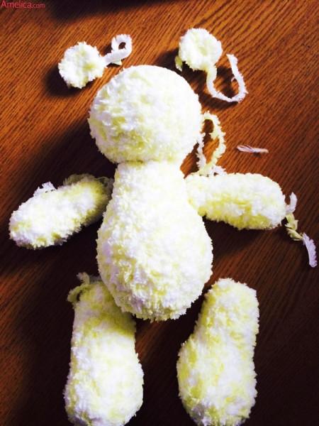 вяжем мишку крючком, мишка вязанный крючком схема