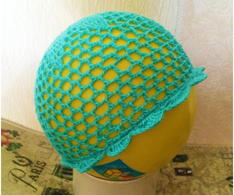 летняя шапочка крючком для девочки схема мастер классamelica