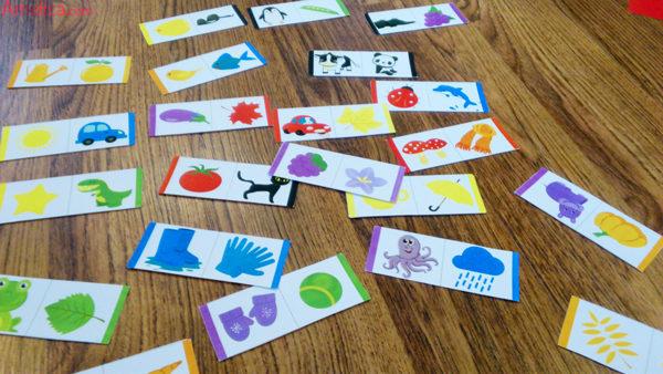 домино цвета, детское домино, игра домино