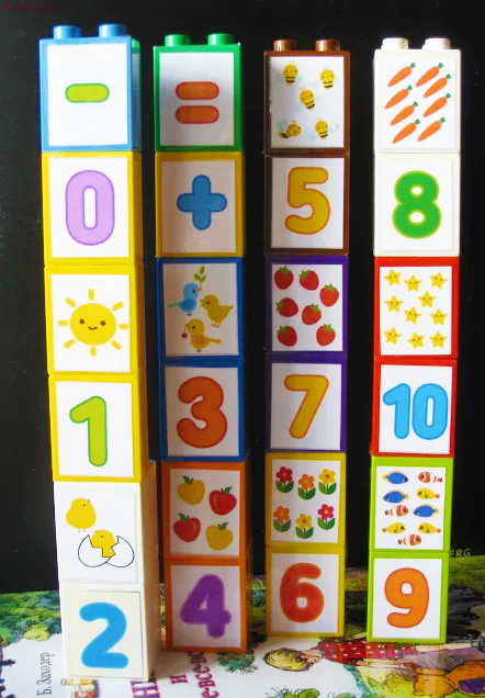 Lego Duplo stickers - numbers  matching counting math for kids