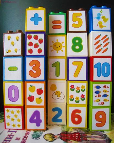 учим цифры с кубиками лего дупло, кубики цифры лего дупло