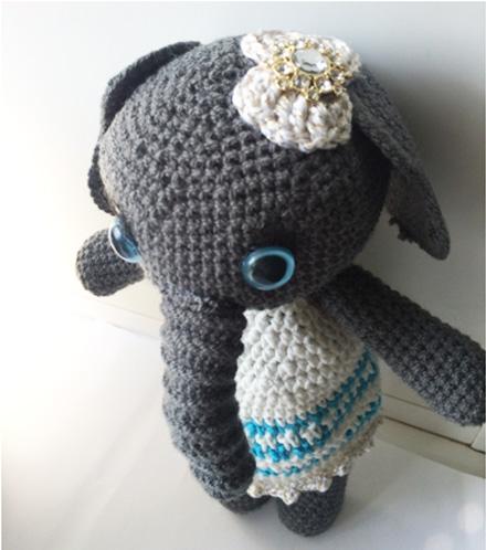 вязаный слоник крючком, слоник крючком схема
