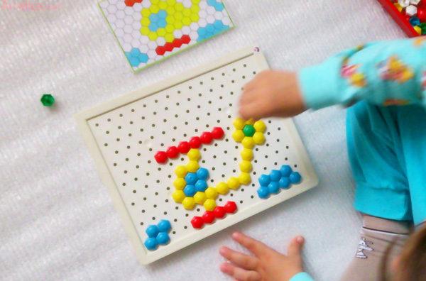 занятия мозаикой детей, занятия детей мозаика