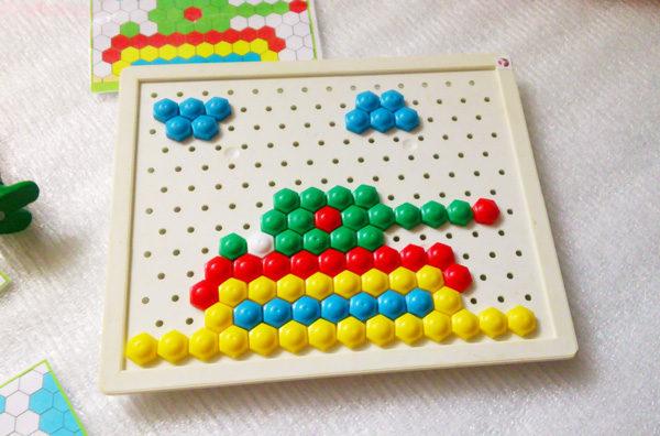 Занятия мозаика для детей