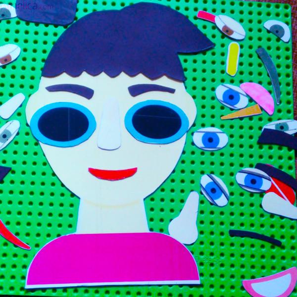 игра для детей «Собери лицо», настольная развивающая игра