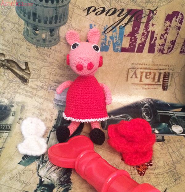 Свинка пеппа крючком схема и описание