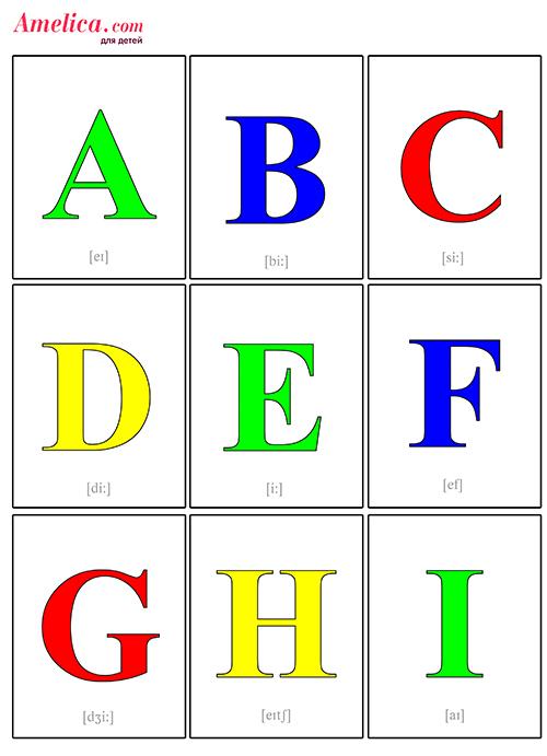 Развивающие карточки буквы