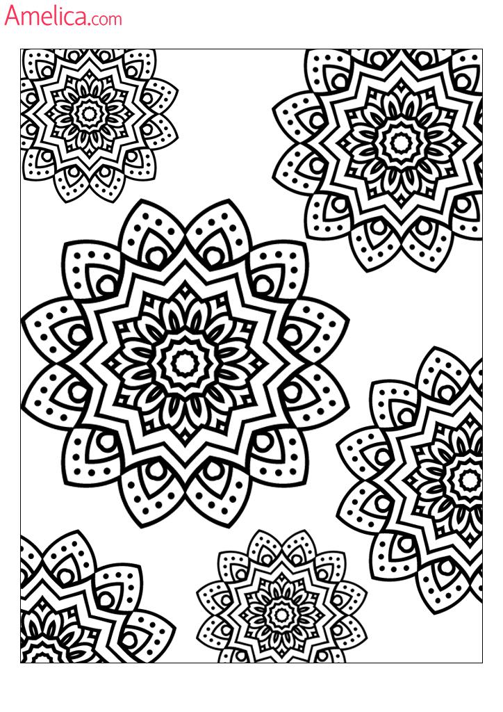 ... цветы, картинки арт-терапия для: https://amelica.com/раскраски-антистресс...