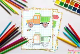 рисунки по клеточкам, как нарисовать красивые картинки по клеточкам в тетради для детей