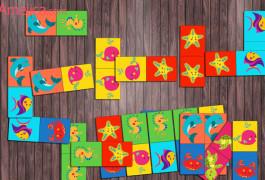 домино бесплатно для детей 2, 3, 4, 5, 6 лет скачать, настольные игры распечатать