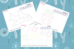 готовим руку к письму, прописи картинки - обводилки по точкам для детей 3 - 4 года