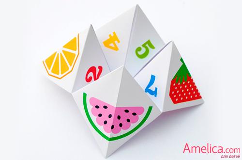Гадалка оригами из бумаги,