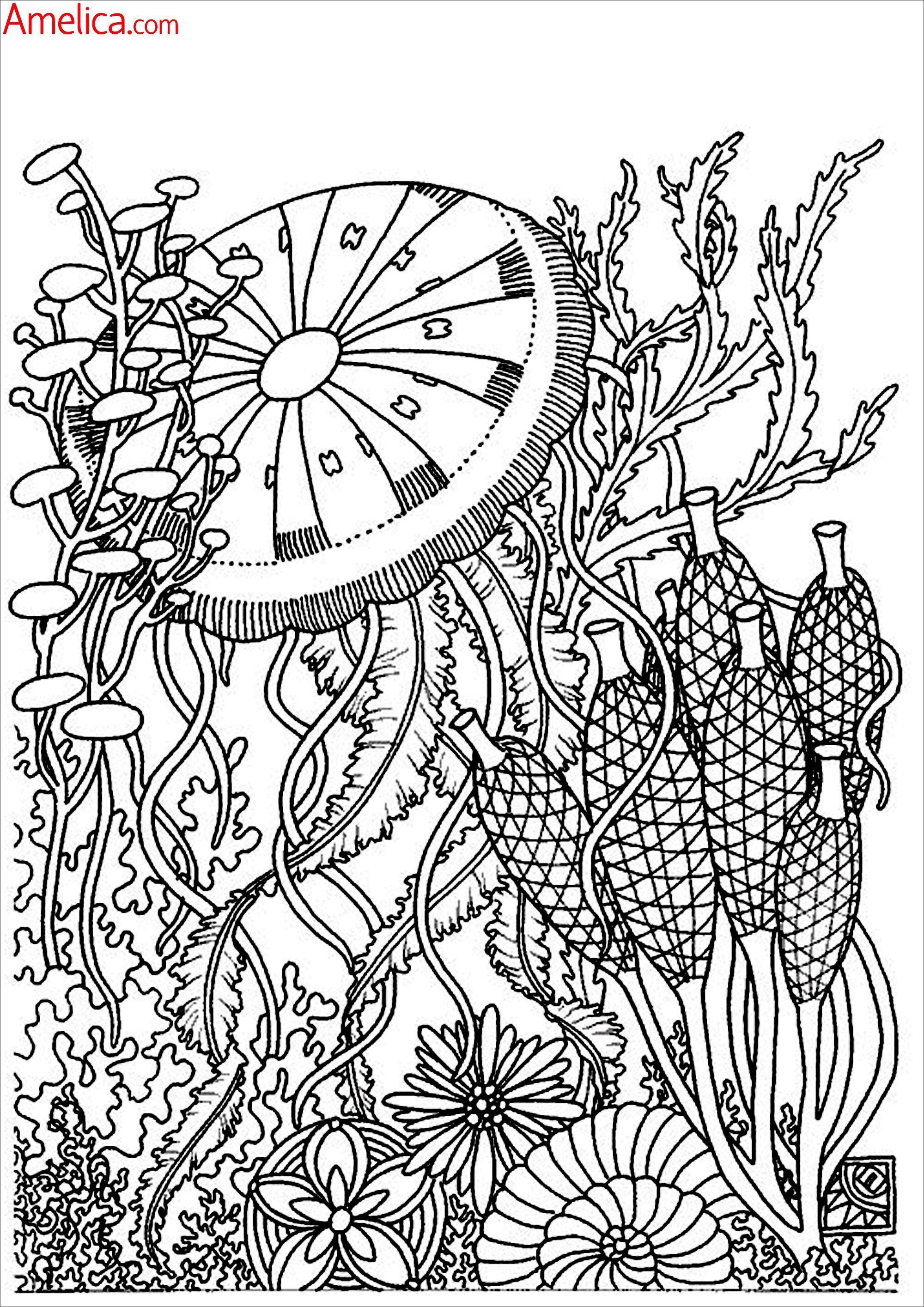 ... раскрашивания цветы, узоры: https://amelica.com/раскраски-взрослым...