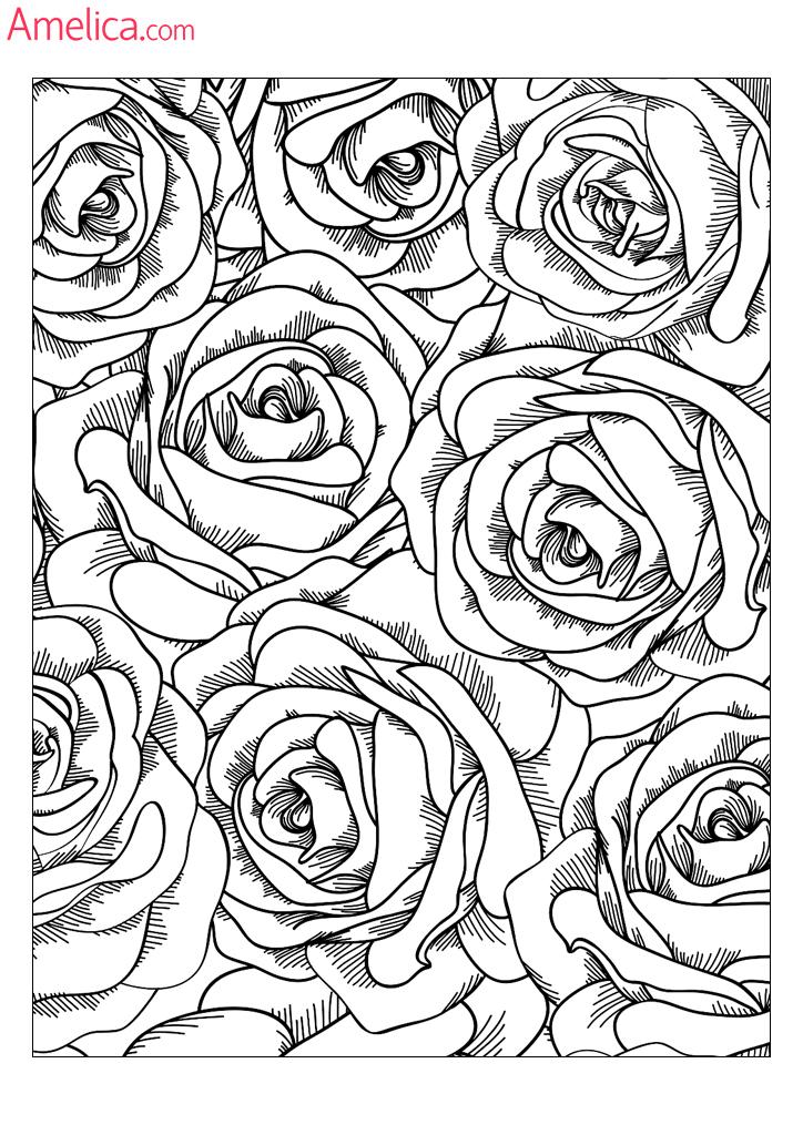 Необычные цветы раскраска 179