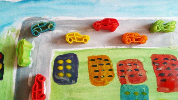 Аппликация для детского сада, объемная аппликация из макарон