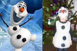 остюм снеговика своими руками, новогодний костюм снеговика