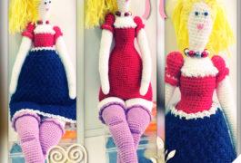 кукла Тильда вязаная крючком, вязаная кукла тильда