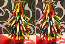 елочка из макарон своими руками, елочка из макарон, елочка из макарон пошаговое фото, как сделать елочку из макарон