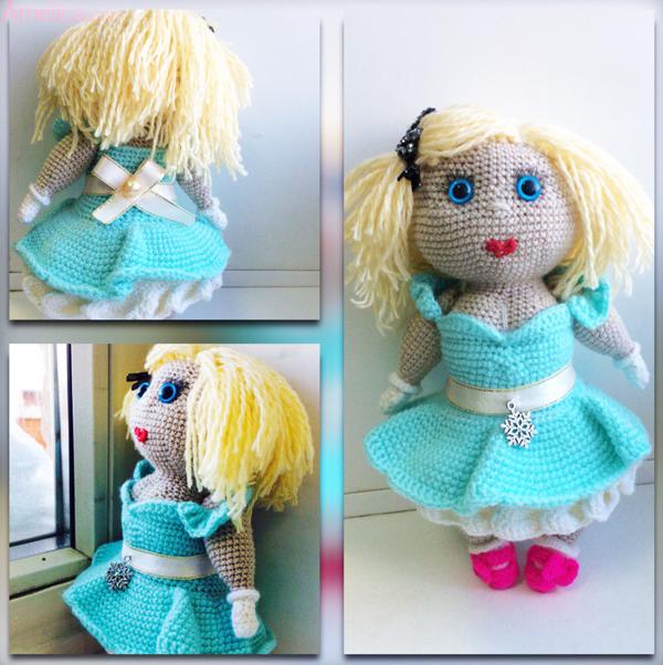 кукла крючком схема, кукла Miss Hook крючком, кукла связанная крючком