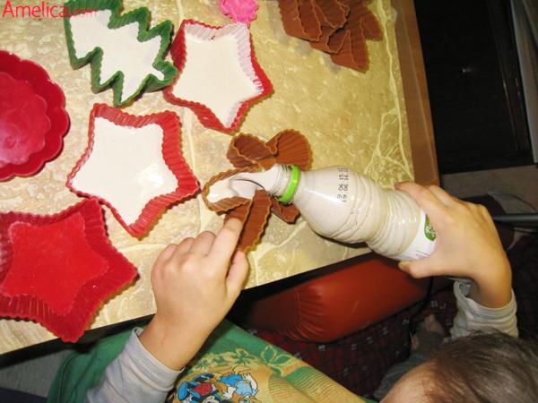 новогодние поделки из гипса, поделки из гипса своими руками,как развести гипс для поделок