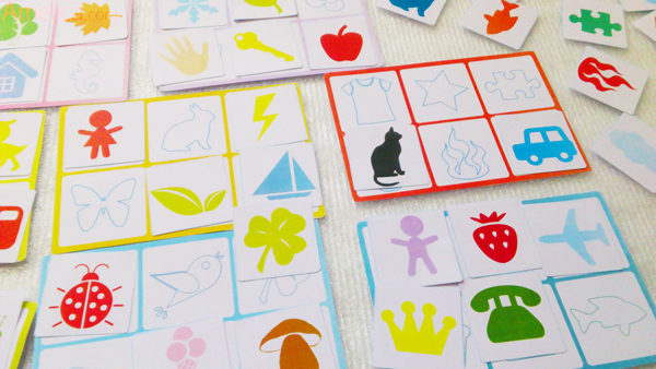 контурное лото, лото для детей, игра на развитие памяти