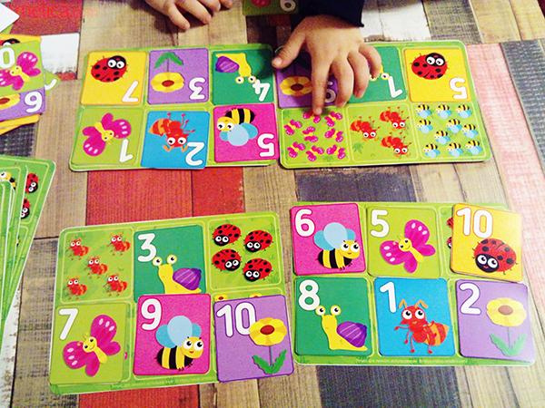 Настольная игра для изучения цифр и обучению порядковому счету