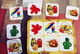 Развивающее лото осень, игры про осень для детей, лото осень для детей