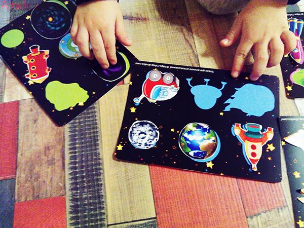 лото для малышей, игры про космос